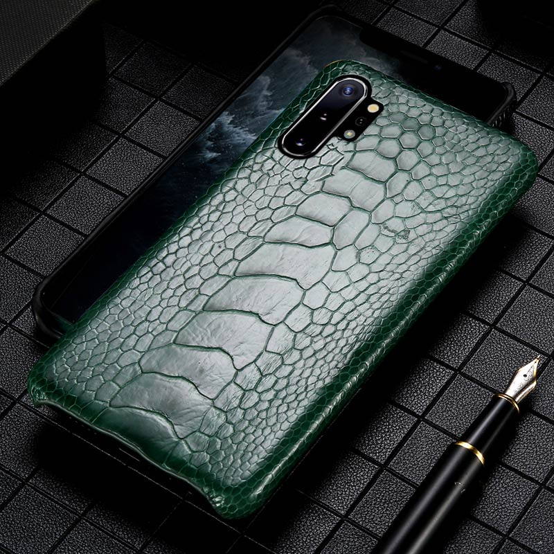 Genuine Ostrich Foot Leather Phone Case For Samsung Galaxy Note 10 Plus 9 S20 Ultra A50 A51 A70 A71 S7 S8 S9 S10 S20 Plus Cover
