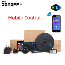 Sonoff L1スマートledライトストリップ防水スマート無線lan柔軟なrgbストリップライトアプリ音声concrol alexa googleで動作ホーム