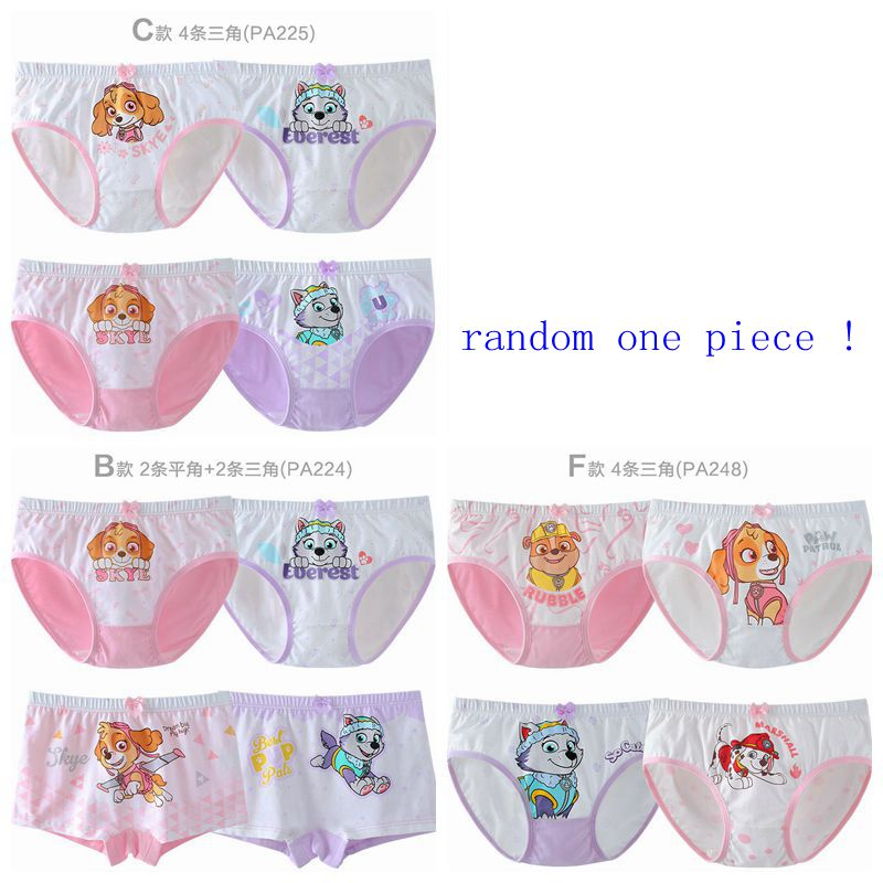 1pcs/set Genuine Paw Patrol Boxers Underpants Action Figure Skye Everest Marshall Rubble Children Cotton Panties Girls Underwear