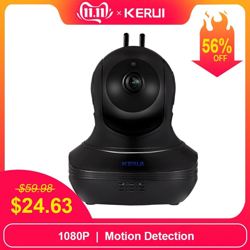 KERUI Full HD 1080P 2MP Wireless IP Camera  Home Alarm Security Cam Burglar Surveillance Indoor WiFi Camera Night Vision