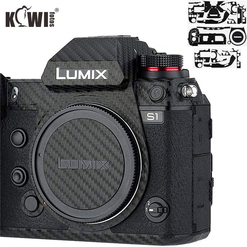 Anti-Scratch Camera Body Skin Cover Protector Film For Panasonic Lumix S1 S1R Full Frame Camera 3M Sticker Carbon Fiber Pattern