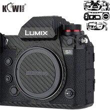 Anti çizik kamera vücut cilt kapak koruyucu Film için Panasonic Lumix S1 S1R Full Frame kamera 3M Sticker karbon Fiber desen