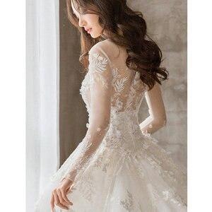 Image 3 - 2020 Rushed Celebrity Dress Wholesale 2020 New Main Light Dress Trailing Star Luxury Women Long Sleeve, Little Dream Bride Yarn