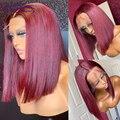 Прямые парики из человеческих волос, парики из T-частей, прямые короткие парики, парик из волос, волосы Dream Beauty из Малайзии, фронтальные парик...