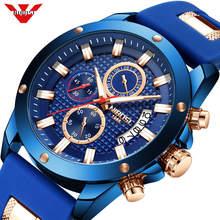 レロジオnibosiメンズウォッチトップブランドの高級ユニークなスポーツ腕時計メンズクォーツ時計防水腕時計シリコーンmontreオム
