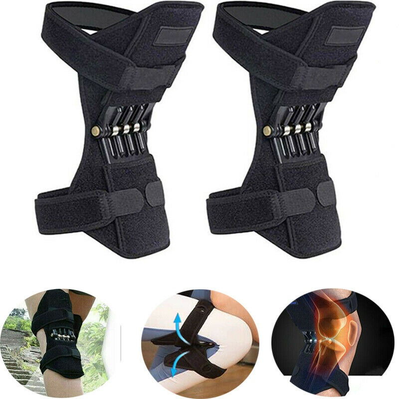 Joint Support Knee Pads Breathable Non-slip Lift Knee Pads Powerful Rebound Spring Force Knee Booster Brace
