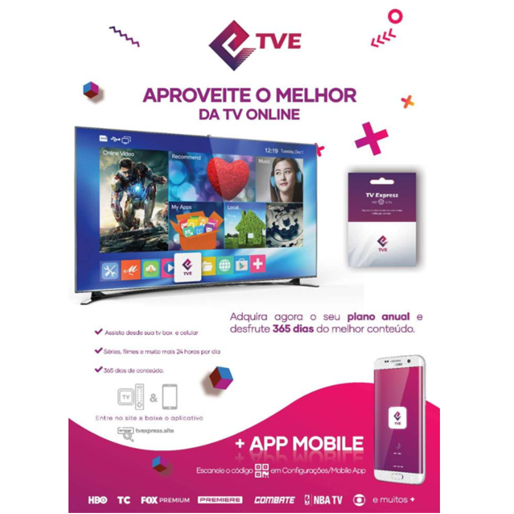 TVE Code Brazil Portuguese Live HD TV Express Live TV With More Than 333 Channels TVExpress APK For Android Tv Box