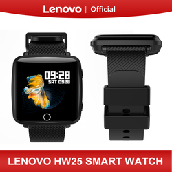 Lenovo HW25 Smart Watch Wristband 1.3 Inch 2.5D IPS Screen Bluetooth Sport Heart Rate Monitor IP68 Deep Waterproof Weather