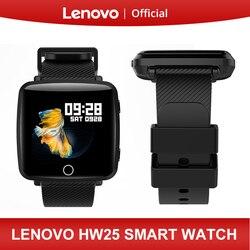Lenovo hw25 relógio inteligente pulseira 1.3 Polegada 2.5d ips tela bluetooth esporte monitor de freqüência cardíaca ip68 tempo à prova dip68 água profunda