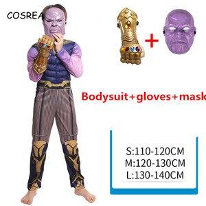 Thanos Muscle Costume, Детский костюм супергероя, Детский костюм на Хэллоуин, карнавальный костюм зентай