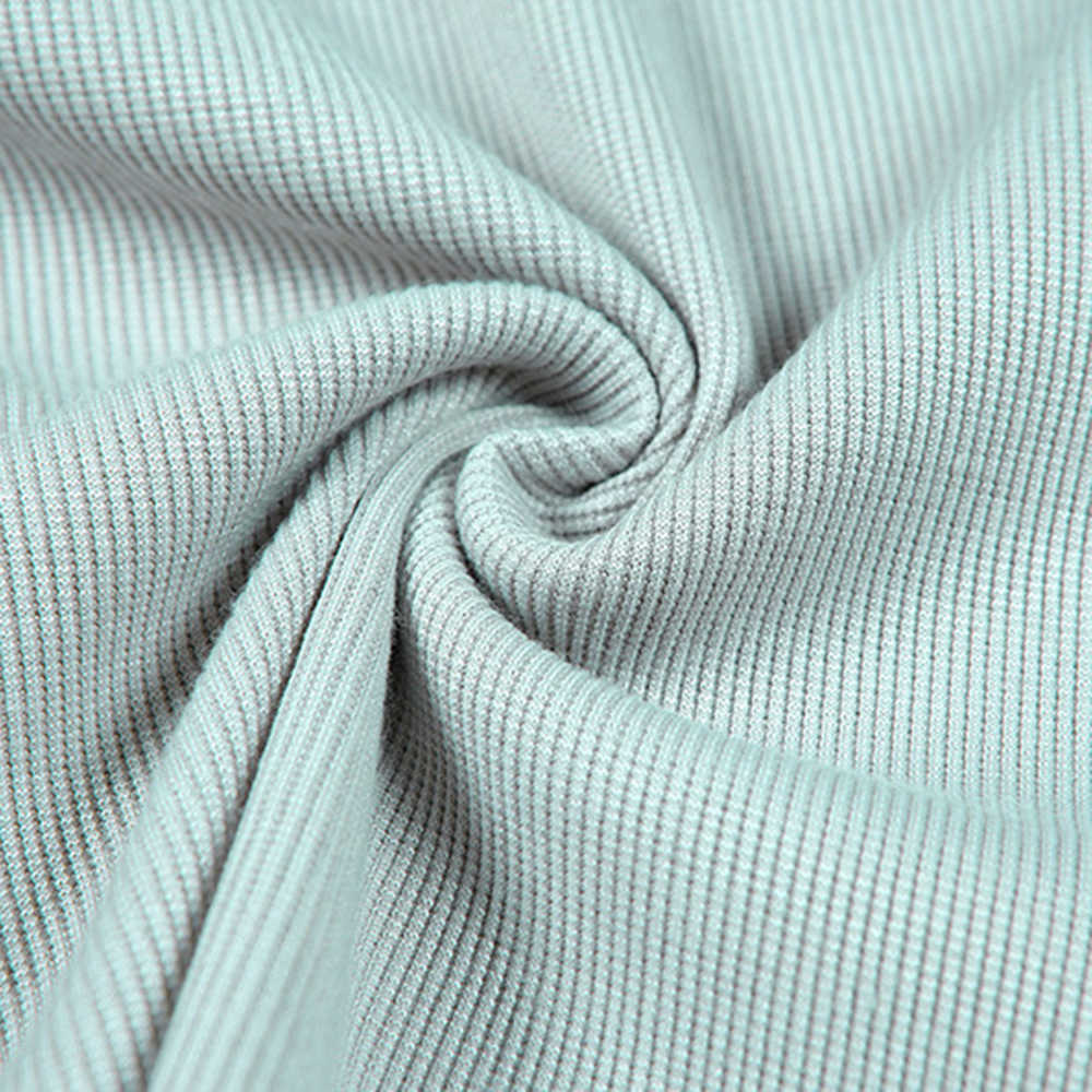 ฤดูใบไม้ร่วง Solid Basic ถักแขนยาว Bottoming เสื้อผู้หญิง 2020 แฟชั่น Harajuku หญิง Single-breasted Casual TOP TEE เสื้อ