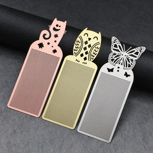 Bookmark Embroidery Cross-Stitch Needlework Silver Golden Butterfly DIY Cute 1PC Owl