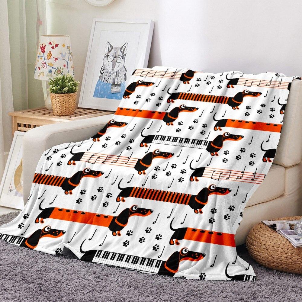 Pet Bedding Dachshund Cactus Fleece Blanket