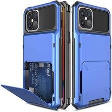 Funda tipo billetera para iPhone, funda con tarjetero para iPhone 12 mini 12 Pro Max 11, 12 Pro Max XR 6S 7 8 Plus