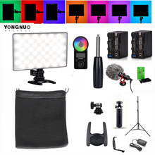 YONGNUO YN300AIR II RGB LED Camera Video Light Optional Battery with Charger Kit Photography Light + AC adapter remote control