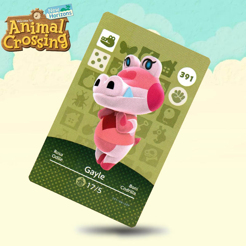 391 Gayle Animal Crossing Card Amiibo Cards Work For Switch NS 3DS Games