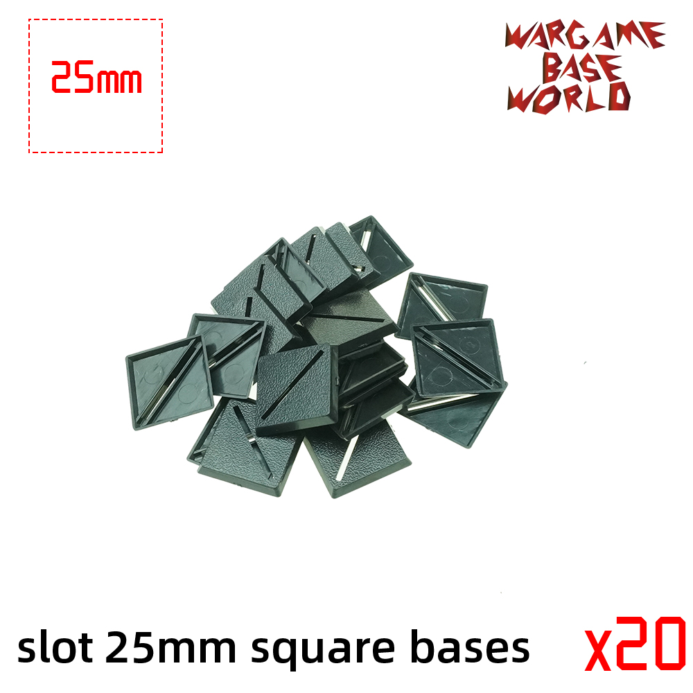 Wargame Base World - Slot 25mm Square Bases