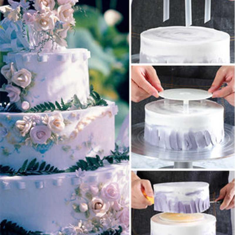 Yomdid Multi-Lapisan Kue Bingkai Dukungan Praktis Kue Berdiri Bulat Makanan Penutup Penopang Spacer Menumpuk Bracket Dapur Kue DIY Alat