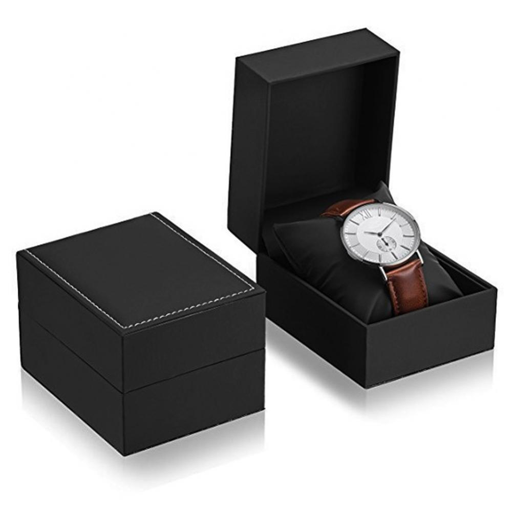 HOT SALES!!!New Arrival Dustproof Faux Leather Watch Storage Box Jewelry Display Case Organizer Gift