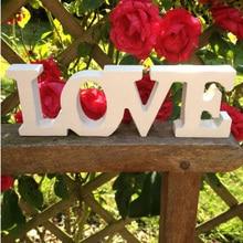 Дерево Творческий лучший подарок романтический бар переводная картинка для кафе фестиваль украшение деревянные буквы дома Brideg Свадьба юбилей алфавит