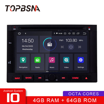 TOPBSNA Android 10 Car Multimedia Player For Peugeot 3005 3008 5008 Partner Berlingo WIFI GPS Navigation 2 Din Car Radio Stereo image