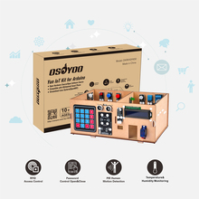 OSOYOO IoT Wooden House Learner Kit for Arduino MEGA2560 STEM Set Learning Internet of Things, Mechanical Building