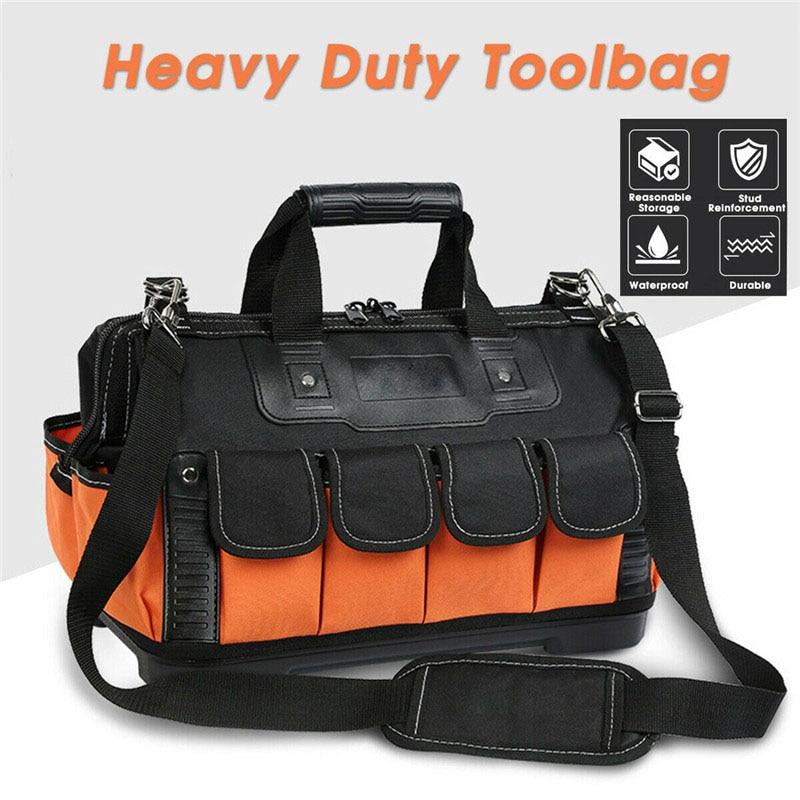 Size 13 17 20 Tool Bags Waterproof Tool Bags Large Capacity Bag Tools Multi-Function Heavy Duty Storage Organizer Carrier Bag