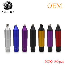 Ambition Tattoo Supply New Style Tattoo Pen Machine  For Tattoo Artist  Rotary Machine Tattoo Supplies with Silicone Hook Line one brass needle bar retainer with spring for rotary tattoo machine parts supply tmp 119a