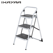 Ladder Iron-Frame Hand-Grip Folding Portable Step-Stool Multi-Use Non-Slip with 330lb/150kg-Capacity