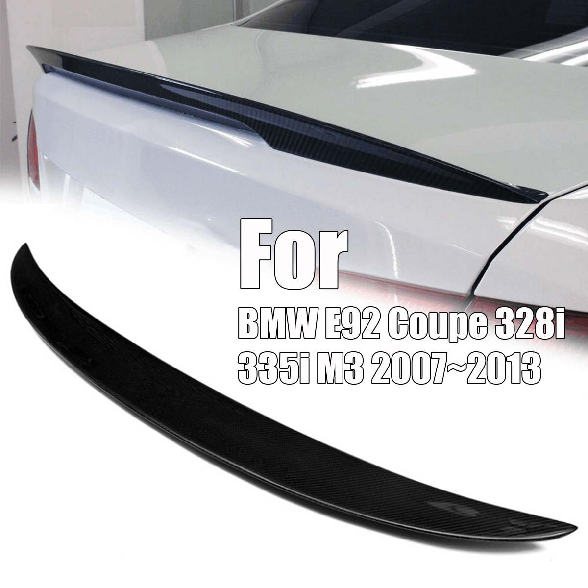 Carbon Fiber Style Trunk Spoiler Wing For BMW E92 Coupe 328i 335i M3 2007~2013