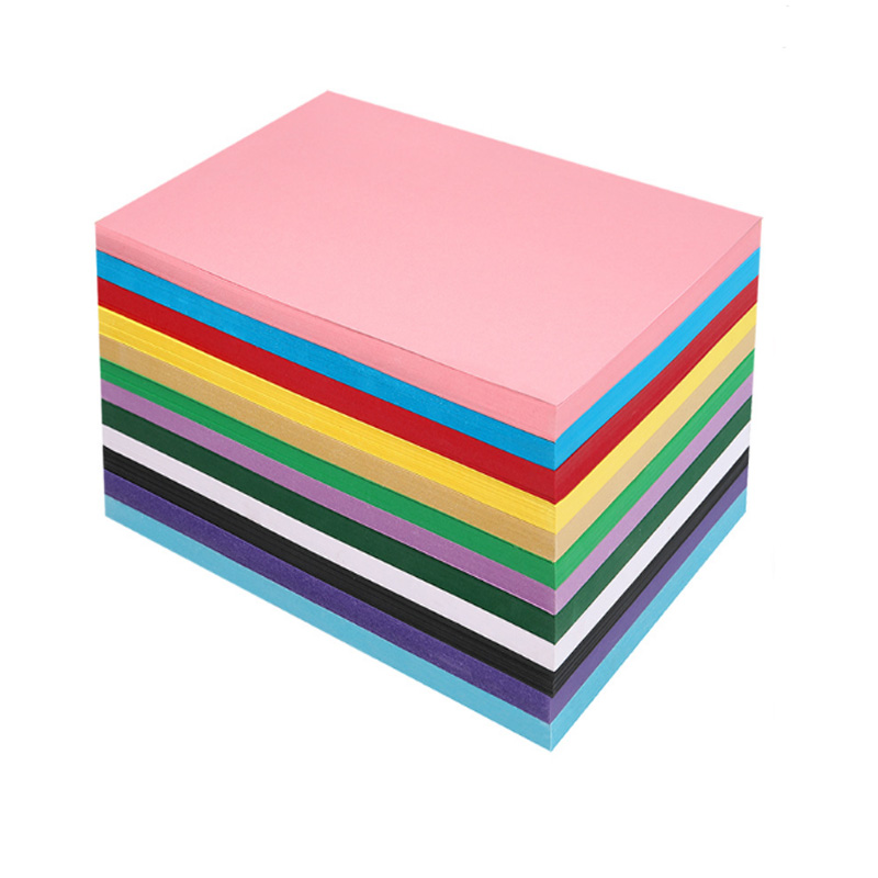 230g color children's diy greeting card paper handmade 4K8 open hard cardboard thick kindergarten colored paperA3A4coloredcardb