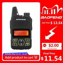 100% originale BAOFENG BF T1 MINI walkie talkie UHF 400 470MHz portatile T1 Radio bidirezionale Ham Radio Amador Micro ricetrasmettitore USB