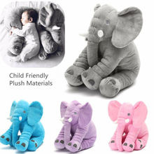 Hot sale Long Nose Elephant Doll Pillow Soft Skin Infant Stuffed Baby kid Plush Stuff Toys