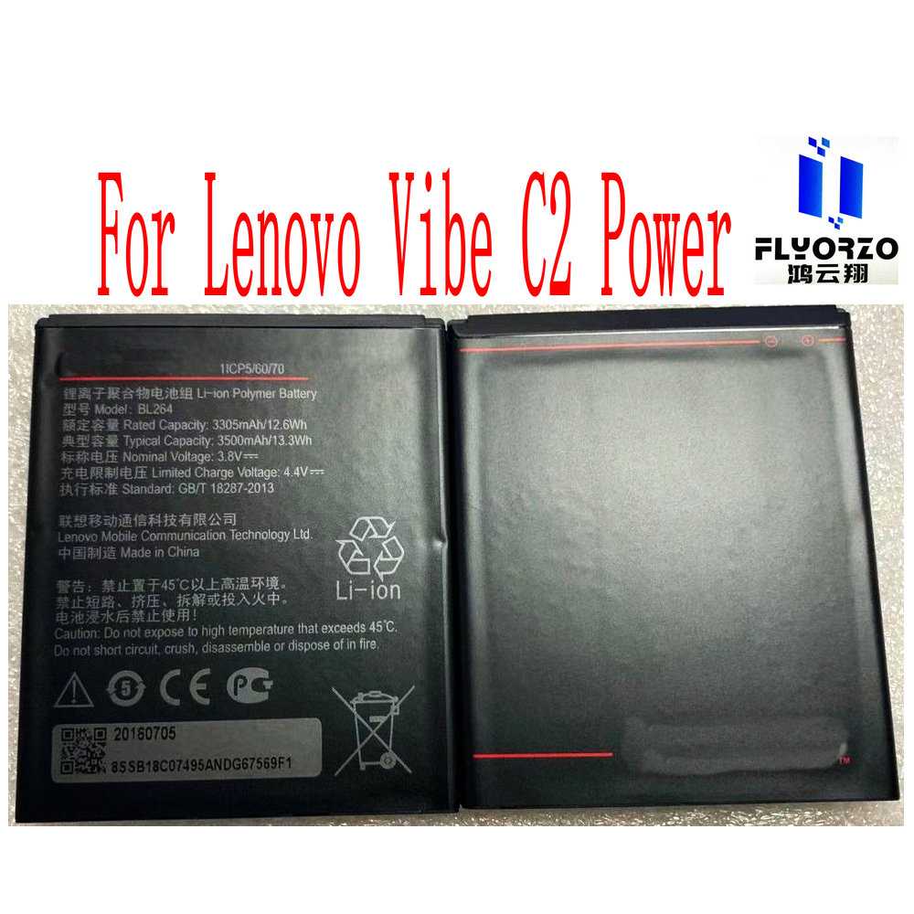100% New High Quality 3500mAh BL264 Battery For Lenovo Vibe C2 Power Mobile Phone