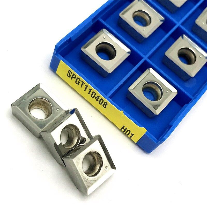 Купить с кэшбэком SPGT050204 SPGT060204 SPGT07T308 SPGT090408 SPGT110408 U drills for aluminum carbide inserts turning tool CNC Cutting tool