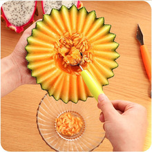 Kitchen Accessories 2 in1 Dual-head Stainless Steel Carving Knife Fruit Watermelon Ice Cream Baller Spoon Home Kitchen Gadgets