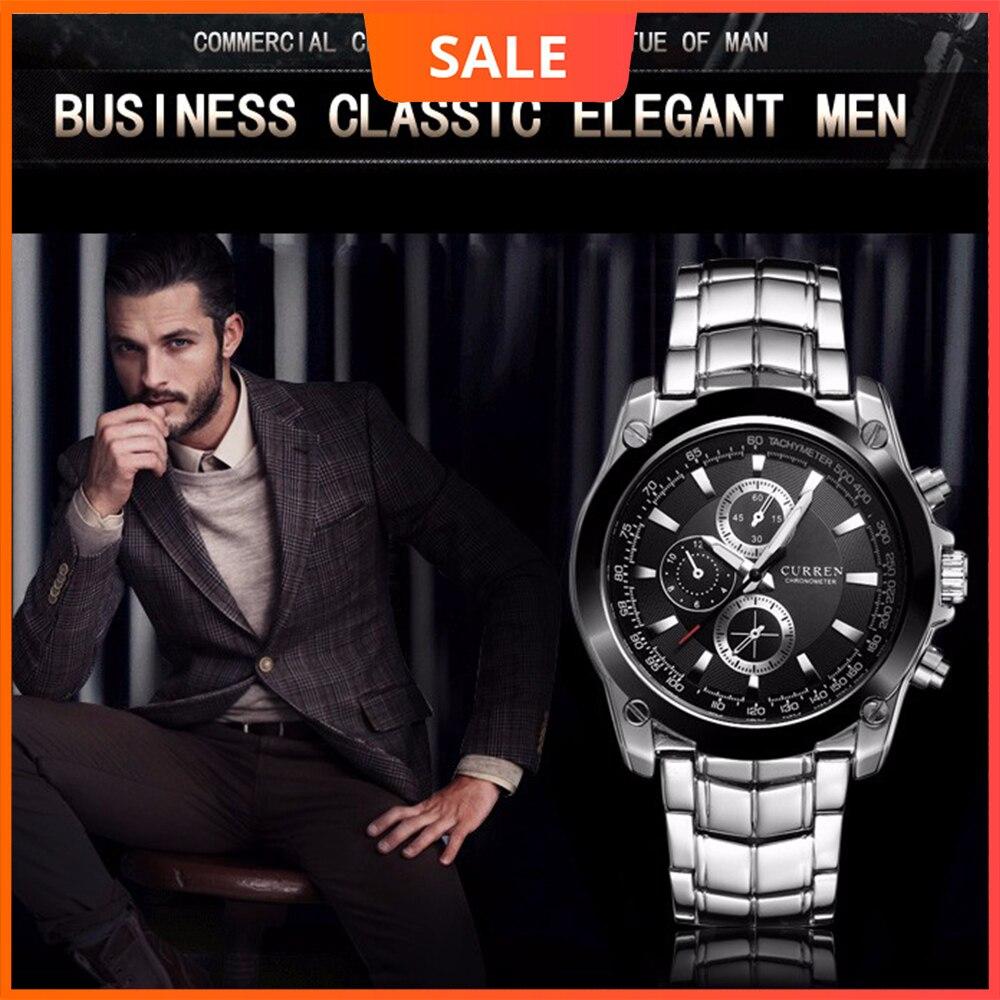 CURREN Роскошные мужские часы Бизнес Мужские кварцевые наручные часы военные водонепроницаемые часы спортивные Relogio Masculino reloj hombre