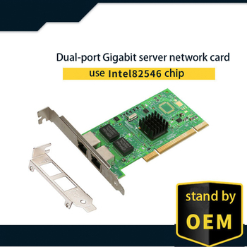 Intel 82546 chipset Gigabit Ethernet PCI-Express network card 10/100/1000Mbps dual RJ45 ports 1 Gigabit server Lan card NIC lr link 9714ht intel i350 t4 10 100 1000mb network controller card quad rj45 port pci express x4 gigabit server lan adapter nic