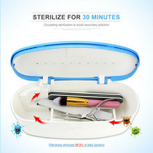 UV LED Nail Tools Sterilizer Box Portable Dry Manicure Beauty Comestic Tool Disinfecting Sterilizer 99% Sterilization USB 600ML uv sterilizer professional tools disinfecting cabinets sterilization household nail salon spa beauty instrument clean appliances