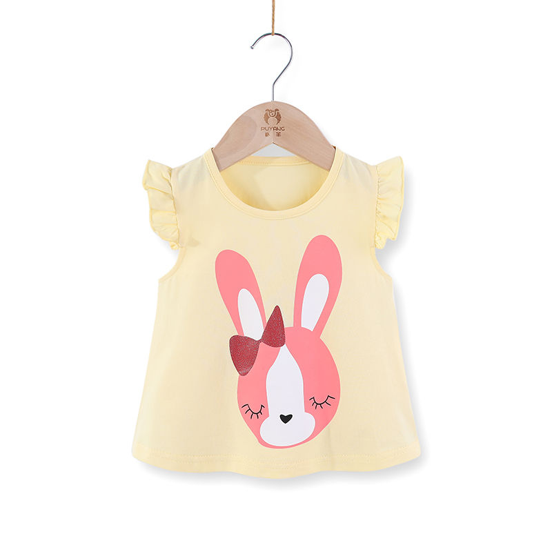 VIDMID Children baby girls kids Short Sleeve T-Shirts Baby girls unicorn rabbits summer girls casual cute cotton tops tees p2007 6