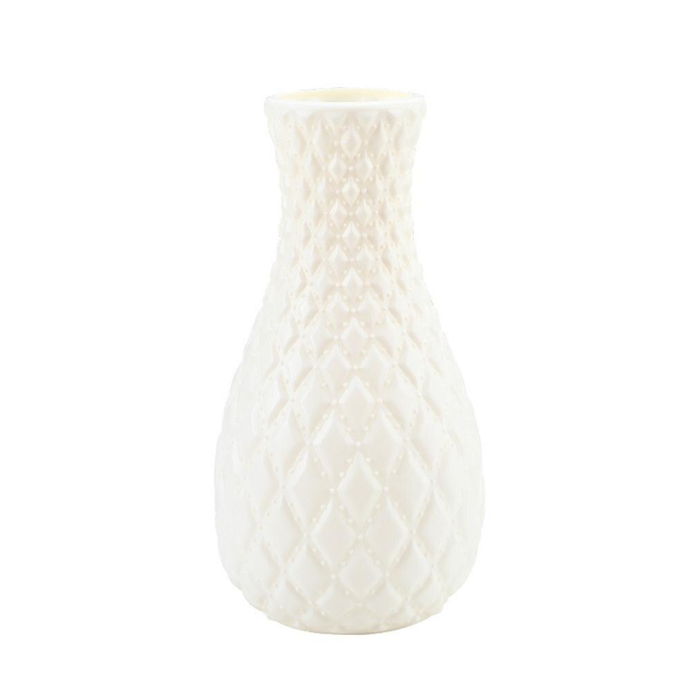 Скандинавском стиле Цветочная корзина ваза для цветов и рисунком в виде птичек-оригами Пластик ваза мини бутылка имитация Керамика украшение цветочный горшок для дома - Цвет: RL1267F