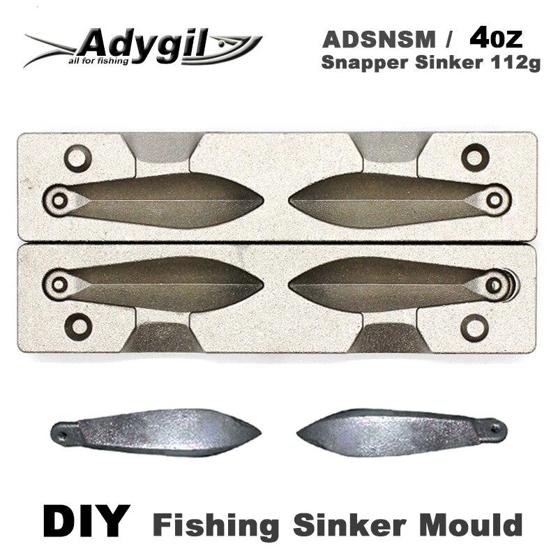 Adyil DIY рыболовный грузило, форма ADSNSM/4 унции, грузило 112 г 2 полостей|Рыболовные снасти|   | АлиЭкспресс
