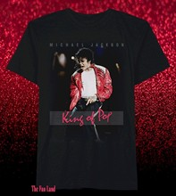 Neue Michael Jackson King Of Pop Foto Retro Vintage Herren T-Shirt(China)