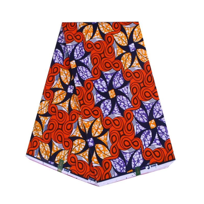 2019 New Fashion 100% Cotton African Print Red Fabric African Nigeria Ankara Dutch Wax 6Yards\lot