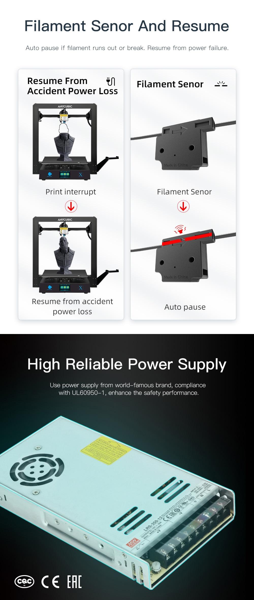 Anycubic Mega Series 3D Printer Mega-S/Mega-X/Mega Pro/Mega-Zero