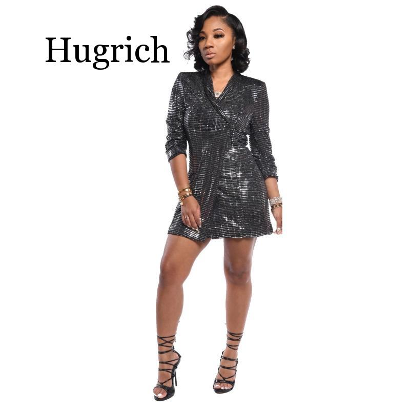 2020 Ladies Sexy Glitter Sequin Blazers Women Elegant Full Sleeve Blazer Coat Fashion Club Party Paillette Long Blazer