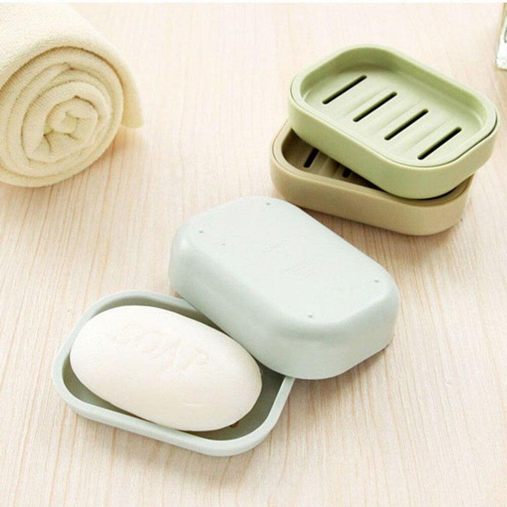 Двойной слив мыло держатель нескользящий мыло коробка горячий 1 шт. Пластик мыло пластик ванная креатив