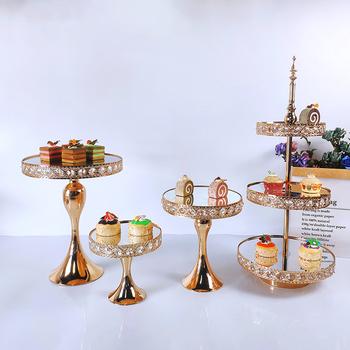 1 sztuk-4 sztuk ciasto stojak okrągłe metalowe podstawki pod torty deser wyświetlacz puchar podstawki pod torty tanie i dobre opinie stojaki CN (pochodzenie) Przybory do ciasta TOBS-MCS030
