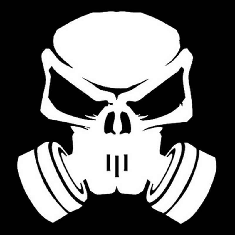 Volkrays pegatina a la moda para coche Nitro Skull Hardcore accesorios reflectantes calcomanía de vinilo a prueba de agua negro/Plata, 14cm * 14cm