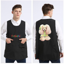 Pet beauticians work clothes beauty aprons pet shop can be customized name